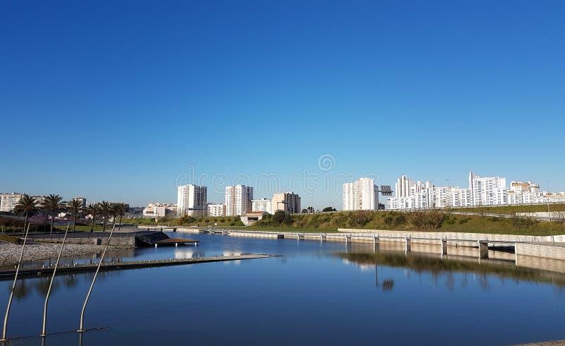 Widok miasta Syberia obrazy royalty free