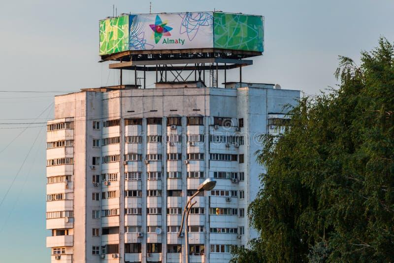 Widok miasto Almaty zdjęcie stock