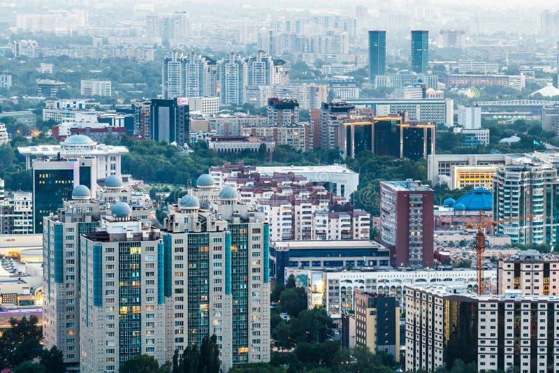 Widok miasto Almaty obraz royalty free