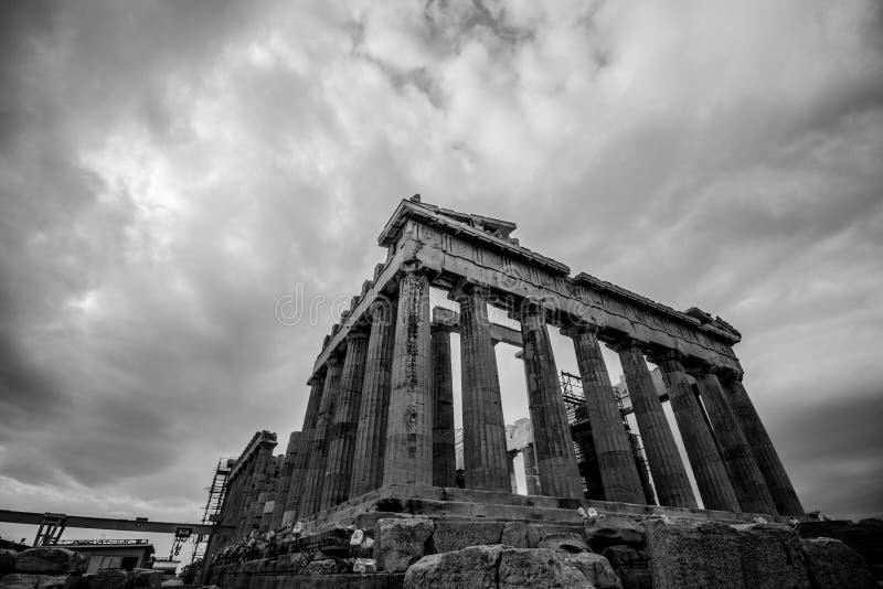Widok miasto Ateny, akropol, Parthenon zdjęcia royalty free