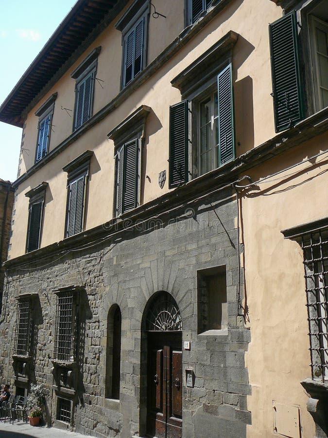 Widok miasto Cortona fotografia royalty free