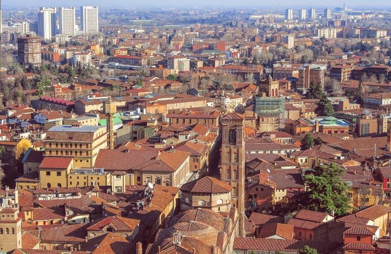 Widok miasto i horyzont, Bologna Włochy obrazy stock