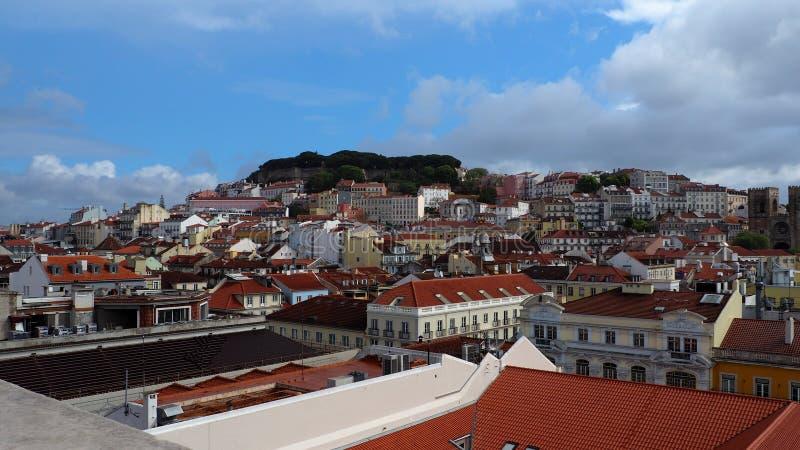 Widok miasto Lisbon miejsca w Portugalia i colours zdjęcie stock