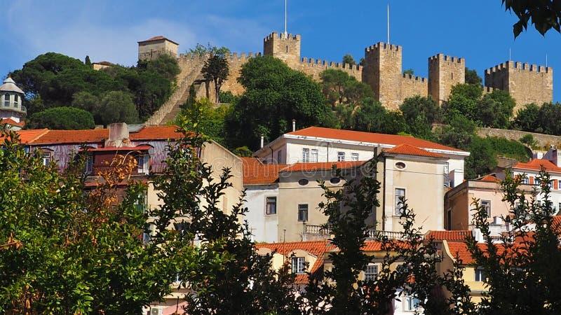 Widok miasto Lisbon miejsca w Portugalia i colours obrazy royalty free