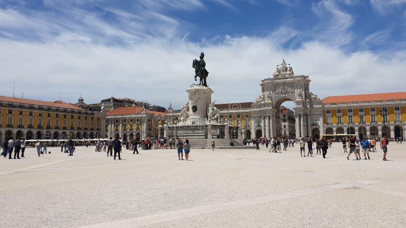 Widok miasto Lisbon miejsca w Portugalia i colours zdjęcia royalty free