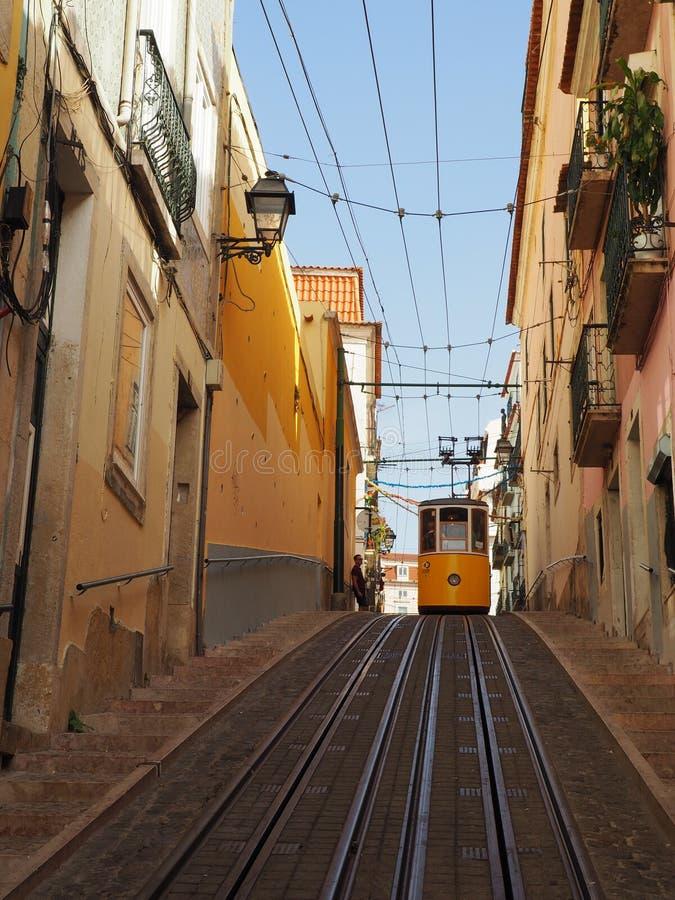 Widok miasto Lisbon miejsca w Portugalia i colours zdjęcia stock