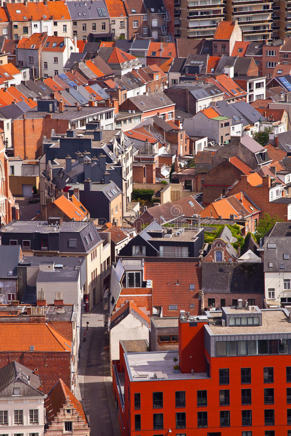 Widok miasto Malines (Mechelen) fotografia royalty free