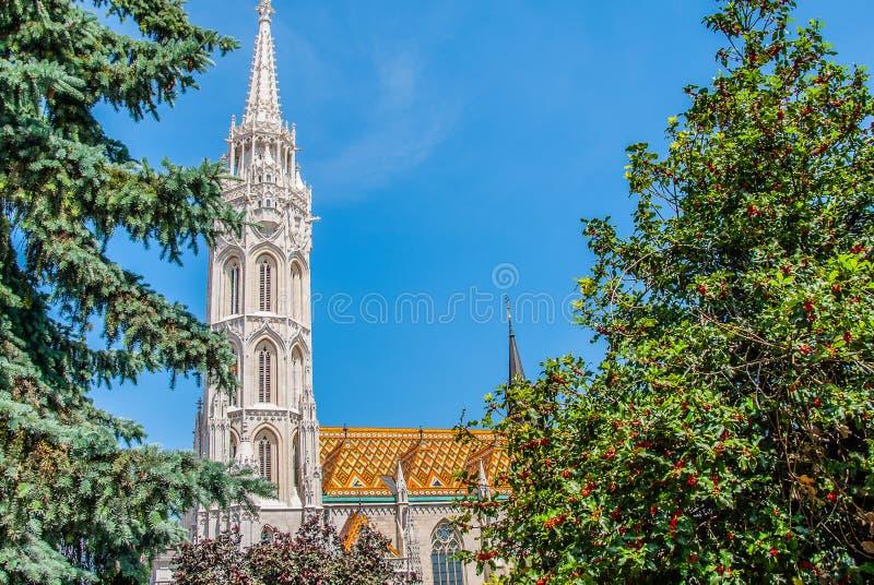 Widok miasto od historycznego budynku w Budapest zdjęcia royalty free
