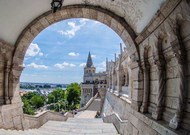 Widok miasto od historycznego budynku w Budapest obrazy stock