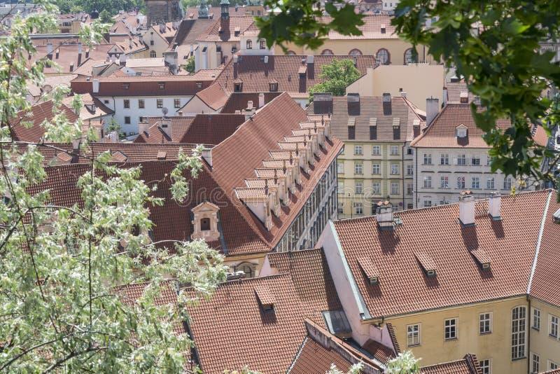 Widok miasto od Praga kasztelu zdjęcie royalty free