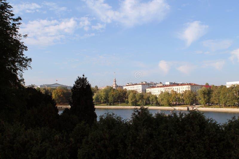 Widok miasto panorama miasto Belarus zdjęcie royalty free