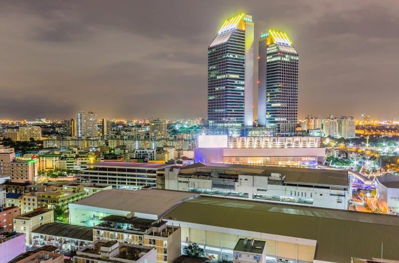 Widok miasto przy nocą zdjęcia royalty free