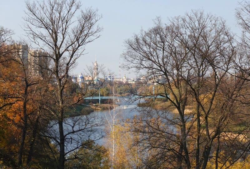 Widok miasto Tambov Tsna rzeka od bulwaru obrazy royalty free