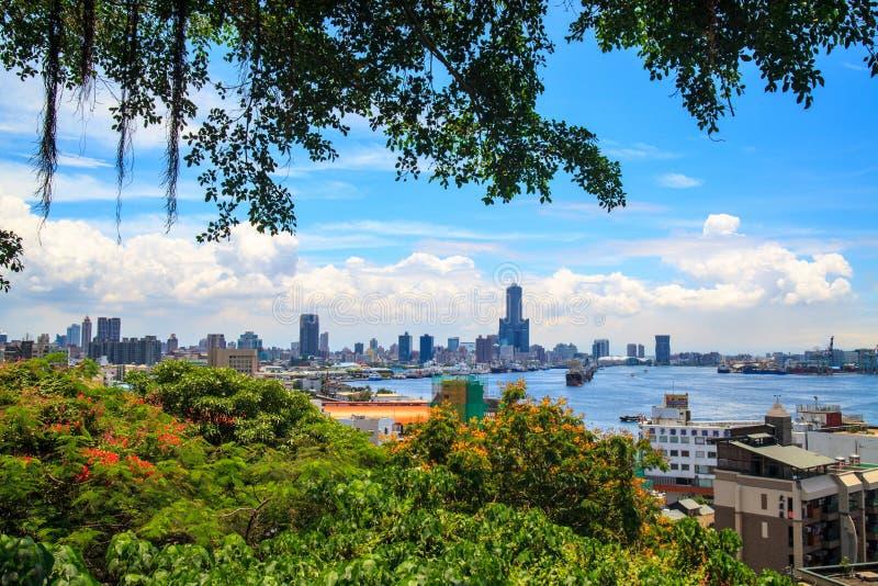 Widok miasto w Tajwan, Kaohsiung - obrazy stock