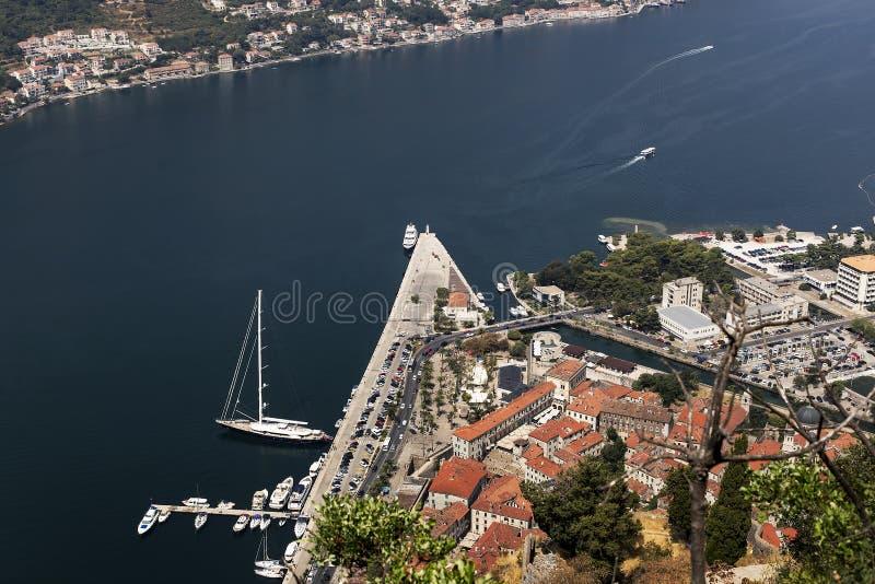 Widok miasto w zatoce zdjęcia royalty free