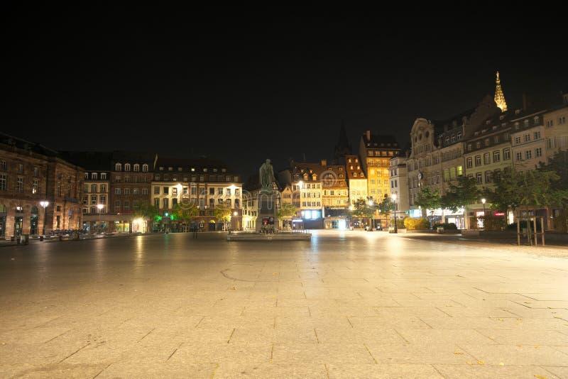 Widok miejsce Kleber w Strasburg zdjęcia stock