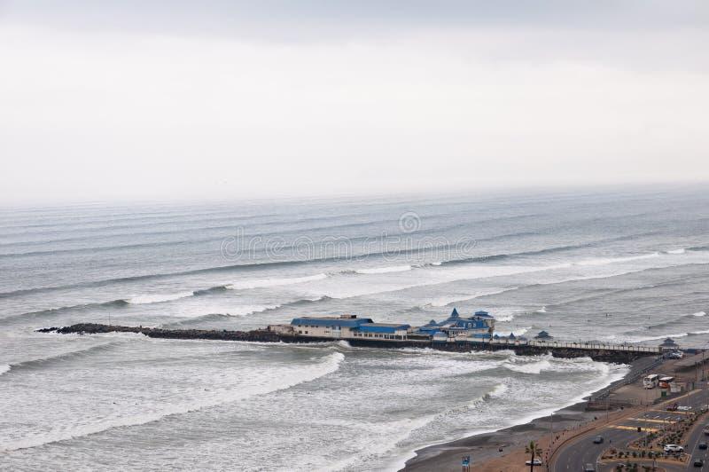 Widok Miraflores, Lima, Peru - Brzegowa linia Lima obraz stock