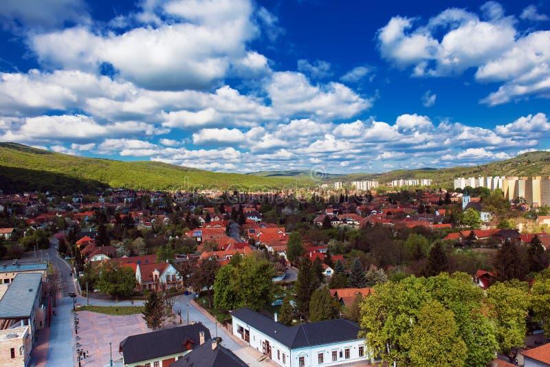 Widok Miskolc miasto zdjęcie royalty free
