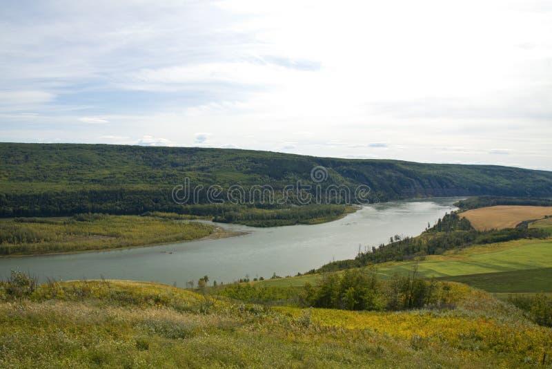 Widok można pokój rzeka, northeastern BC zdjęcia royalty free