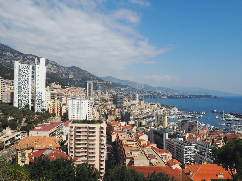Widok Monaco od szczytu fotografia stock