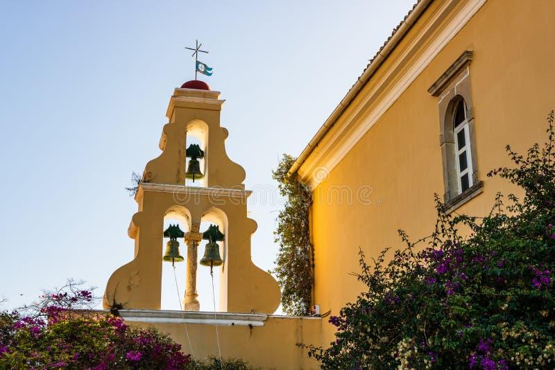 Widok Monastry w Palaiokastritsa, miasteczko w Corfu, Grecja fotografia royalty free