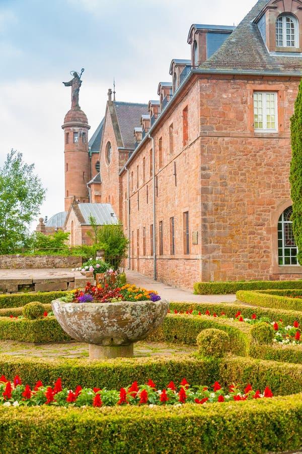 Widok mont sainte-odile, Alsace, Francja obraz royalty free