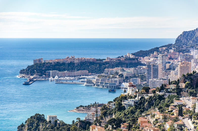 Widok Monte, Carlo i Monaco - Ville zdjęcia royalty free