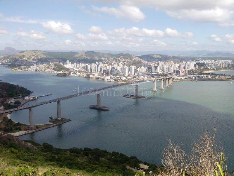 Widok Moreno Morro, Terceira ponte zdjęcia royalty free