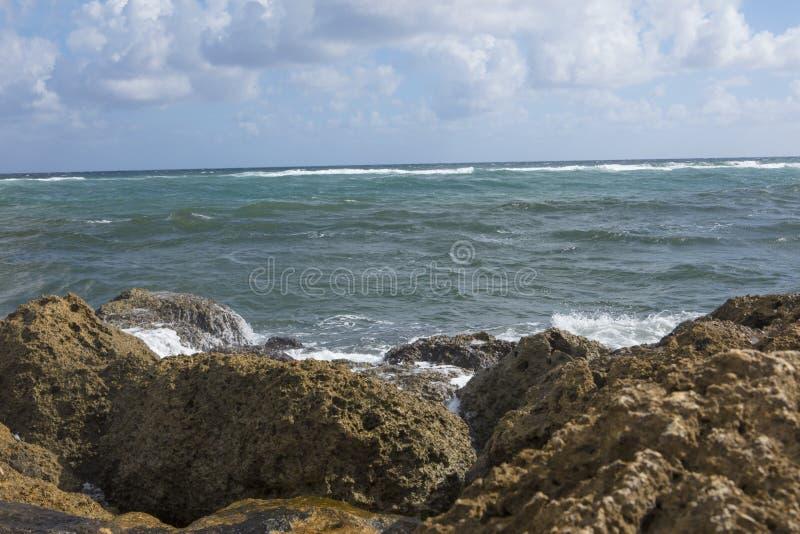 Widok morze od Południowego wpusta parka Boca Raton Floryda obrazy stock
