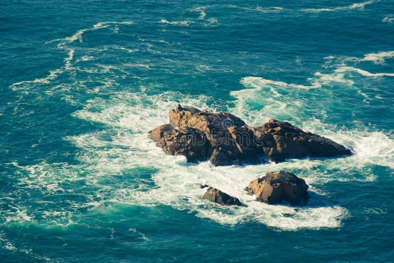 Widok morze od westernmost punktu Europa, Cabo da Ro zdjęcia royalty free