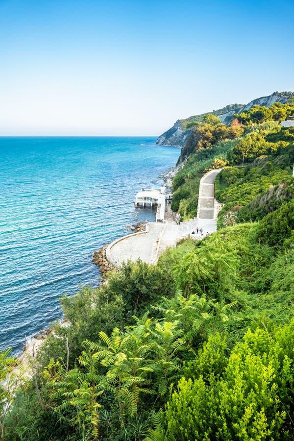 widok morze przy Ancona, W?ochy obrazy royalty free
