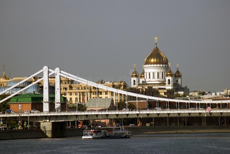 Widok Moskwa centrum miasta i swój sławni punkty zwrotni fotografia stock