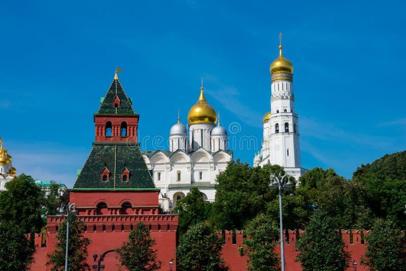 Widok Moskwa Kremlowskie ściany obraz stock