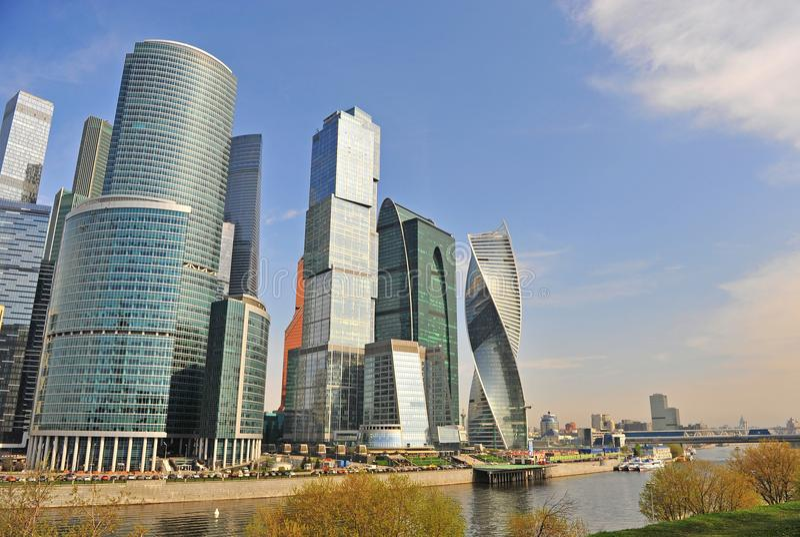 Widok Moskwa miasta śródmieście obrazy royalty free