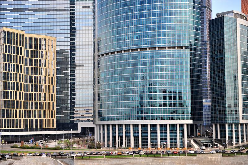 Widok Moskwa miasta śródmieście zdjęcia stock