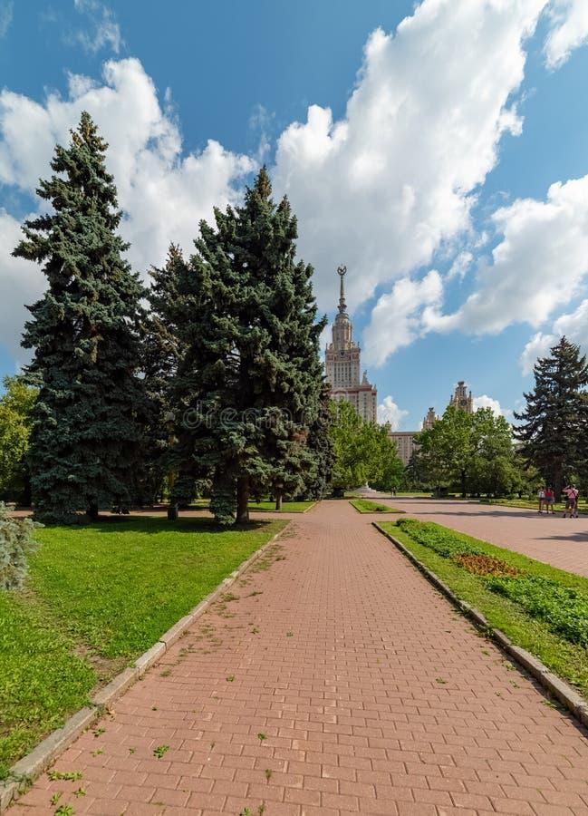 Widok Moskwa stanu uniwersytet wymieniający po M V Lomonosov obrazy royalty free