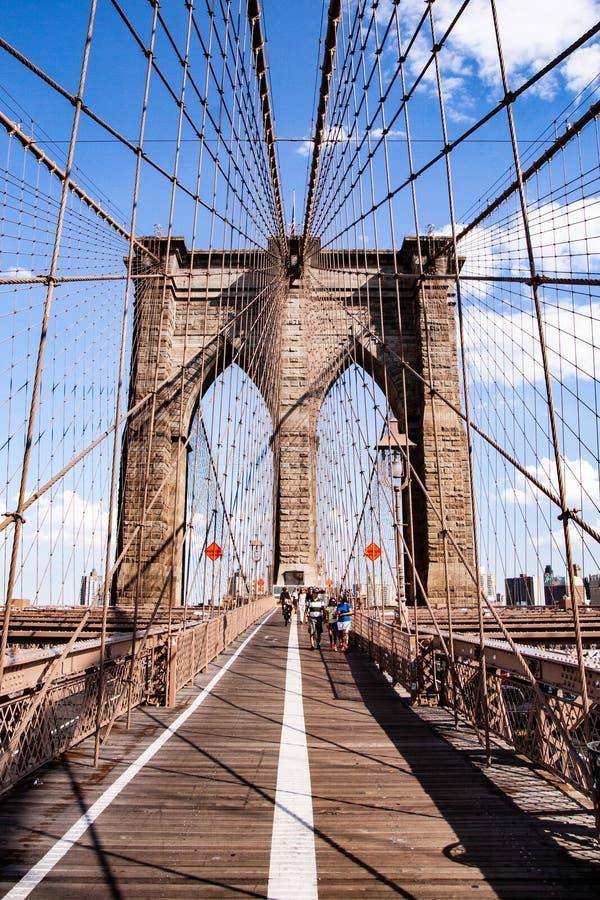 Widok most brooklyński, NYC, usa zdjęcie royalty free