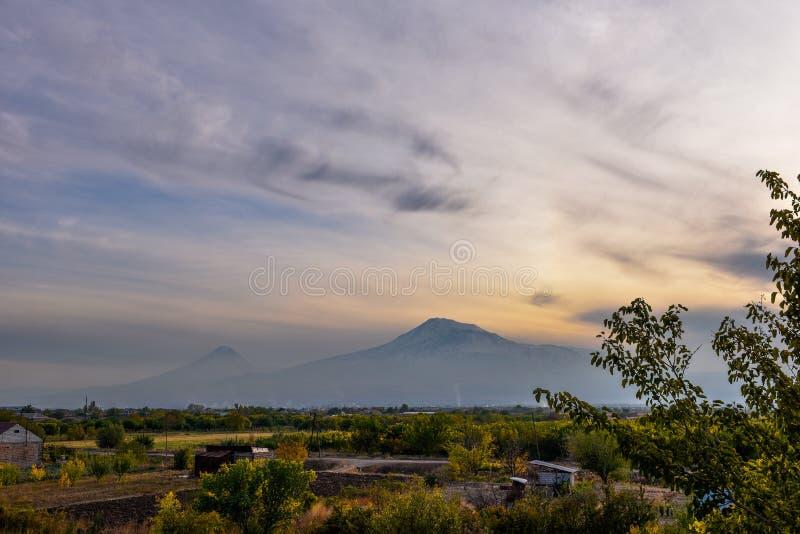 Widok Mout Ararat od Armenia obraz stock