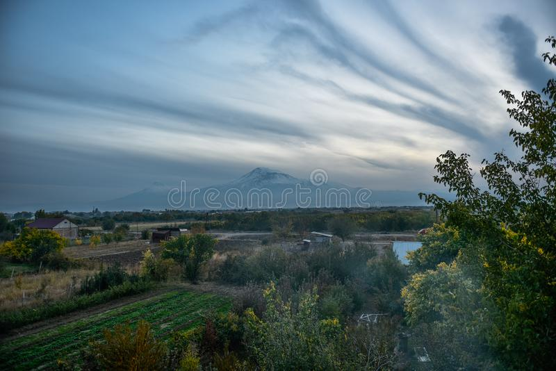 Widok Mout Ararat od Armenia fotografia stock