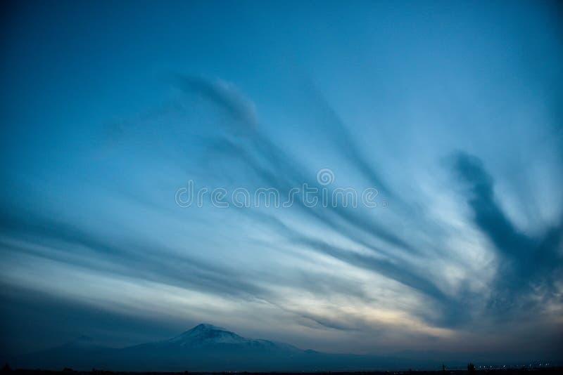 Widok Mout Ararat od Armenia zdjęcia stock