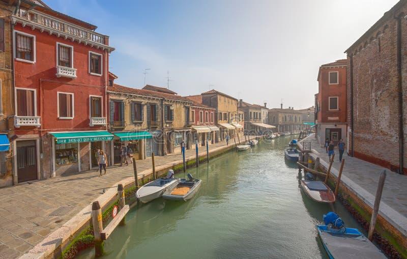 Widok Murano wyspa, mała wyspa wśrodku Wenecja Venezia terenu, sławnego dla swój szklanej produkci , Włochy zdjęcie royalty free