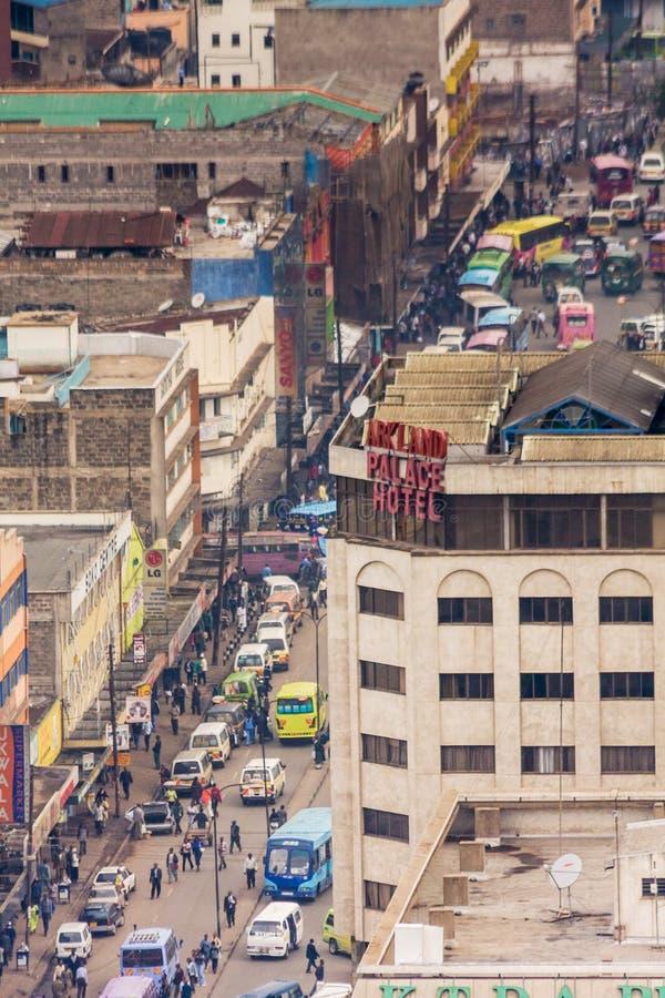 Widok na środkowej dzielnicie biznesu Nairobia obraz stock
