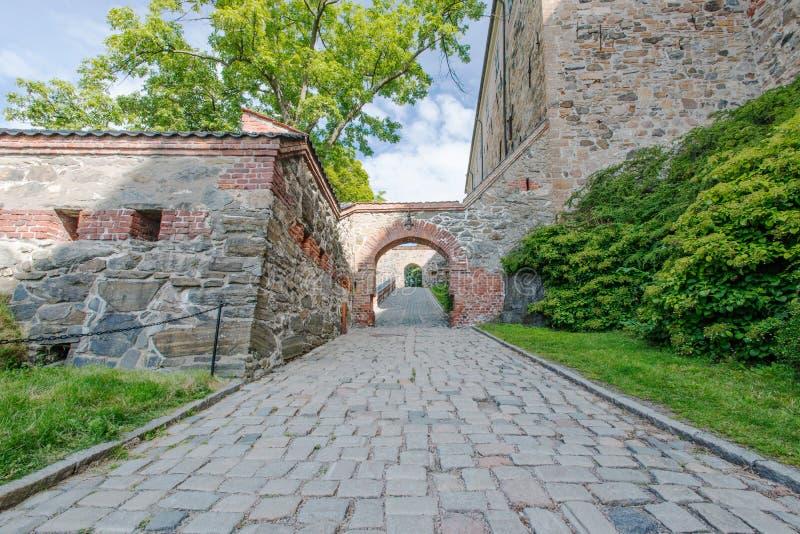 Widok na Akershus Fortecy w Oslo zdjęcie royalty free