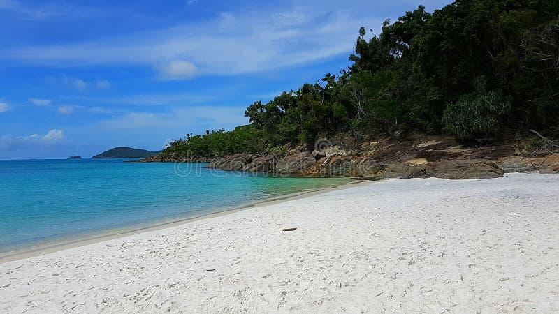 Widok na Białej niebo plaży Whitsunday wyspa w Australia obraz royalty free