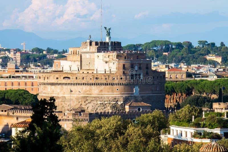 Widok na Castel Sant'Angelo, Rzym zdjęcie stock