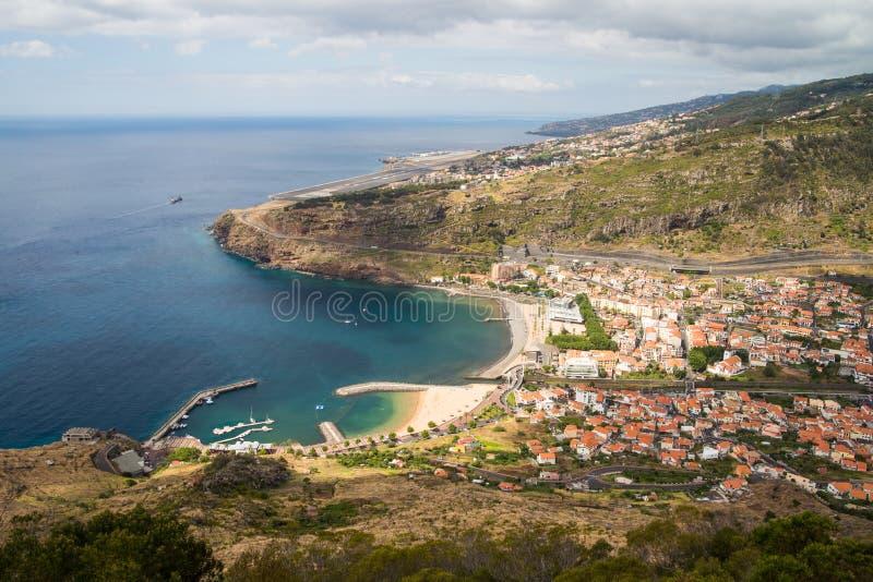 Widok na Funchal lotnisku zdjęcia royalty free