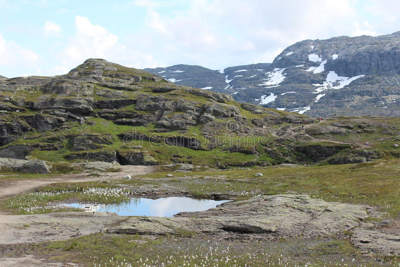 Widok na górach fotografia stock