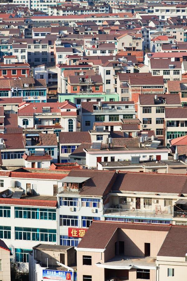 Widok na Hengdian mieście, Chiny zdjęcie royalty free
