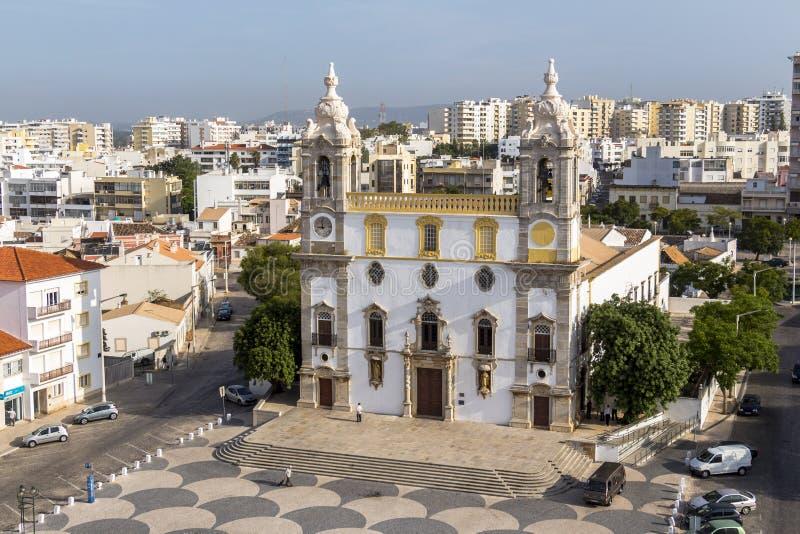 Widok na katedrze w Starym miasteczku Faro, Portugalia fotografia royalty free
