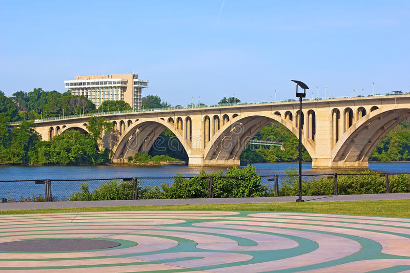 Widok na klucza moscie od Georgetown parka zdjęcie royalty free